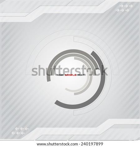 Bright Technology Background - stock vector