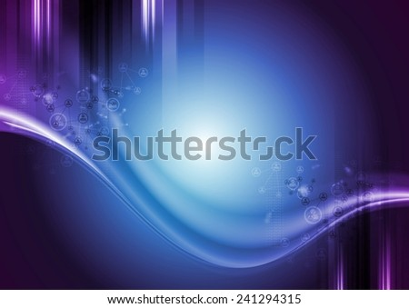 Bright technology wavy background. Vector design - stock vector