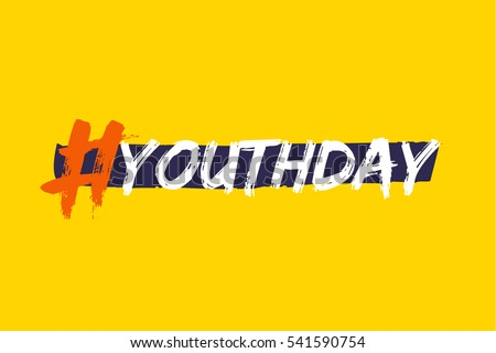 Bright template card international youth day stock photo photo bright template card of international youth day for banner brochure flyer greeting stopboris Image collections