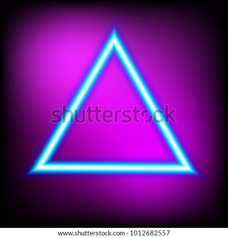 Bright Triangle Neon Sign Retro Neon Stock-Vektorgrafik 1012682557 ...