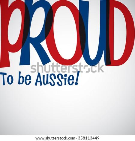 Bright typographic Australia Day card in vector format. - stock vector