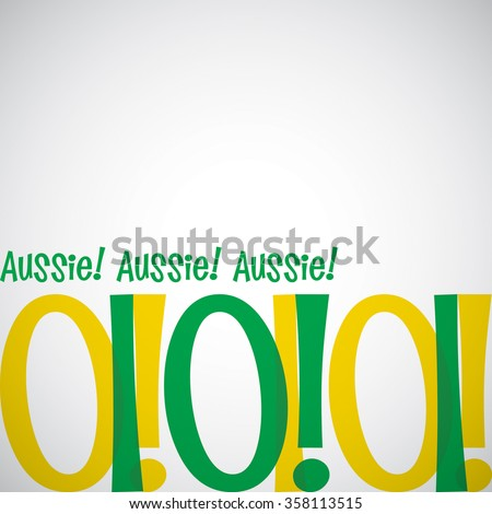 Bright typographic Australia Day card in vector format. - stock vector