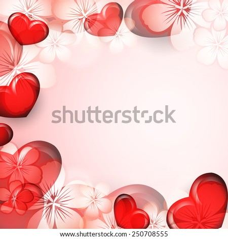 bright Valentine's Day vector background with hearts. Eps10 - stock vector