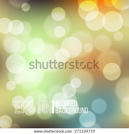 Bright vector background with bokeh effect. Wallpaper - stock vector
