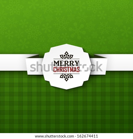 Bright vector christmas background  - stock vector