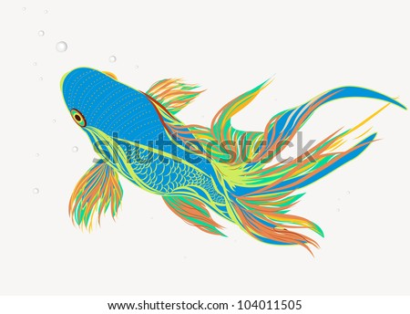 Koi tattoo stock images royalty free images vectors for Koi fish vector