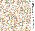 Bright vector seamless floral background - stock vector