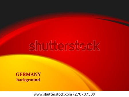 Bright wavy abstract background. German colors. Vector design