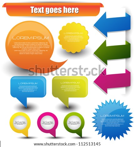 bright web elements - stock vector
