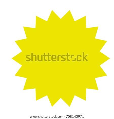 Red Starburst Burst Badge Seal Label Stock Vector 699894190 ...
