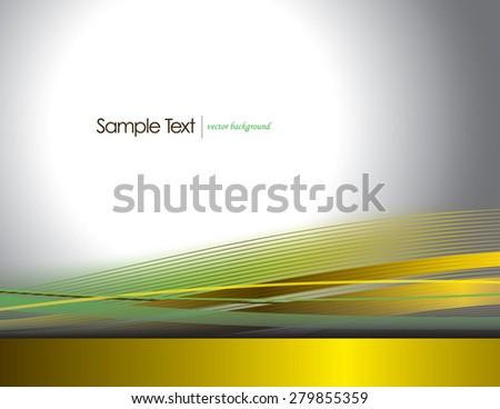 Bright Yellow Vector Wavy Background. - stock vector