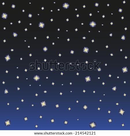 brightest stars in the night sky - stock vector