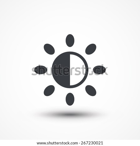 Brightness icon. - stock vector