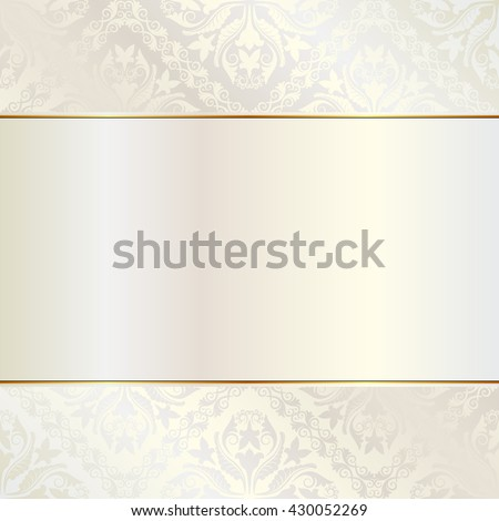 brilliance background with ornaments - stock vector