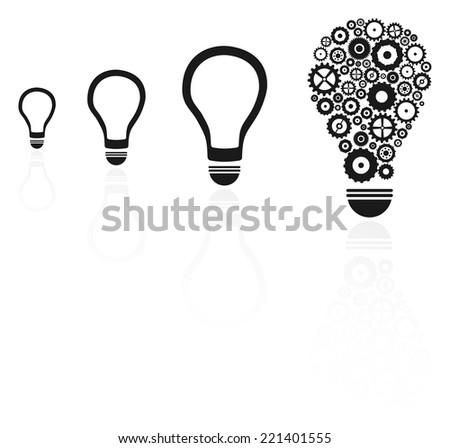 Brilliant Idea Light Bulb Among Others Concept - stock vector