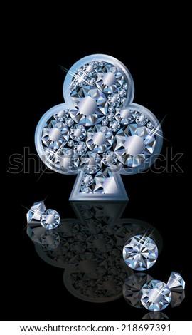 5280 poker club logos with diamonds
