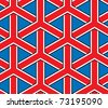 britain flag style seamless vector background - stock vector