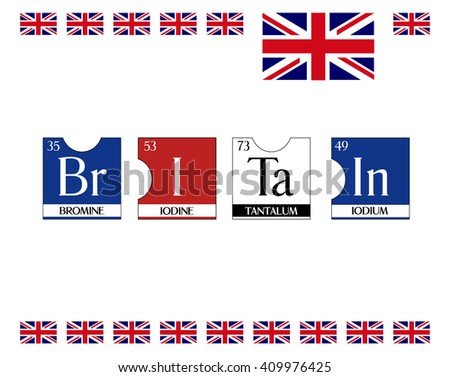 Britain text poster periodic table elements stock vector 409976425 britain text poster from periodic table elements illustration vector cool t shirt print urtaz Choice Image