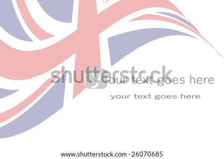 British flag background - stock vector