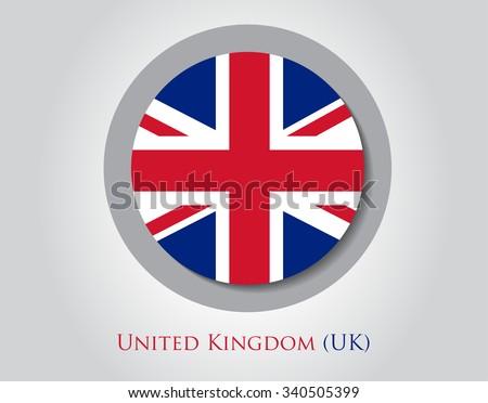 British flag icon.UK flag vector illustration. - stock vector