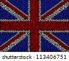 British flag symbol of anarchy - stock vector