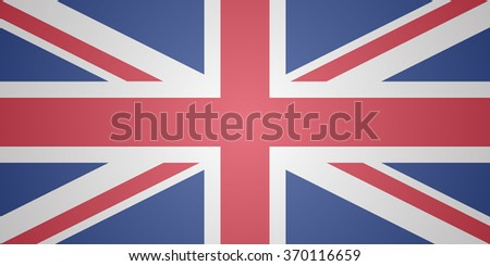 British flag with hazy cover. Flat design vector illustration. - stock vector