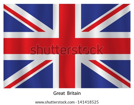 British vector flag - stock vector