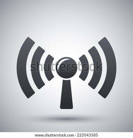 Broadcasting icon, vector - stock vector