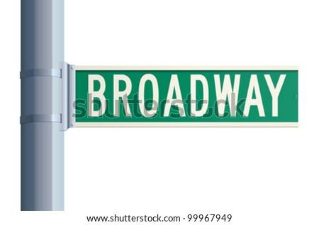 Broadway sign - stock vector