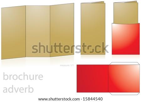 brochure adverb - stock vector
