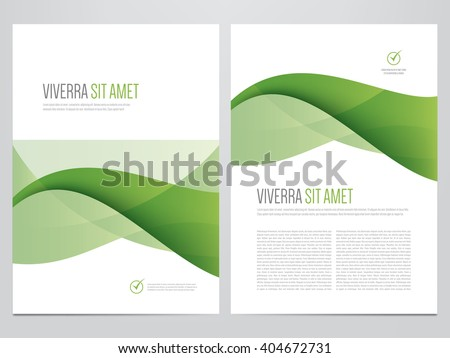 Brochure, annual report, magazine cover, flyer, poster vector template. Modern green corporate design. - stock vector