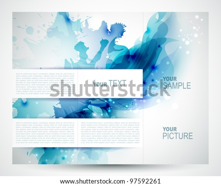 Brochure background with Abstract  blue elements - stock vector