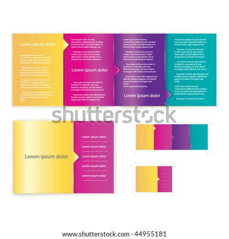 Brochure ( booklet ) cover template vector for business artworks. Include print version - stock vector
