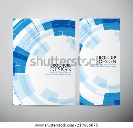 Brochure business design abstract Modern technology circles template or roll up.  - stock vector
