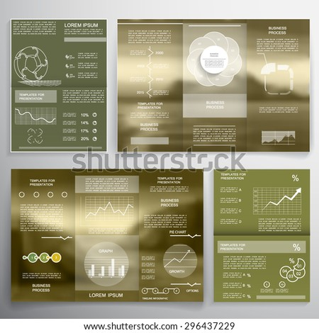 Brochure, business layout template