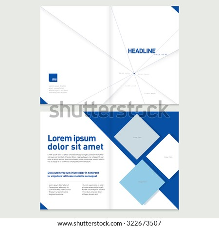 Brochure Cover Inner Pages Design Template Stock Vector - Pages business card template
