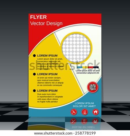 Brochure cover, booklet, poster vector design. Business flyer template. - stock vector