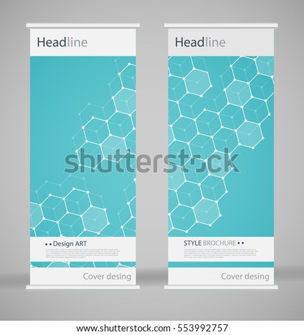 Brochure Cover Design Abstract Roll Up Stock Vector - Fancy brochure templates