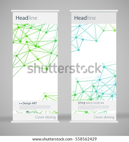brochure front cover design - brochure cover design abstract roll up stock vector