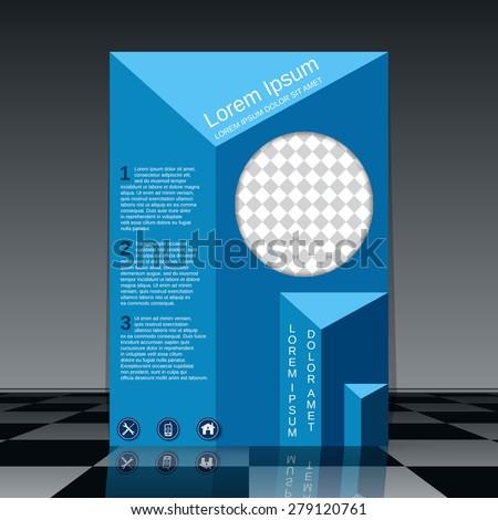Brochure cover design. Booklet, flyer, poster, banner vector template. - stock vector