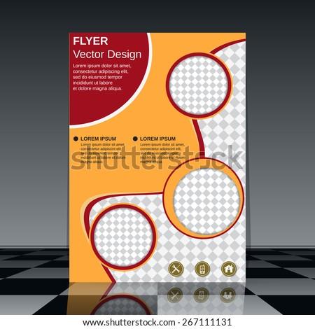 Brochure cover design. Business flyer, booklet, poster vector template. - stock vector