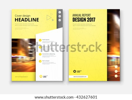 Catalog Cover Design Corporate Business Template Stock Vector