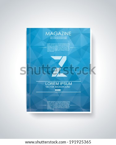 Brochure cover design vector template  - stock vector