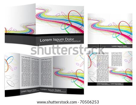 Brochure cover template( booklet ).  Editable Vector Illustration - stock vector