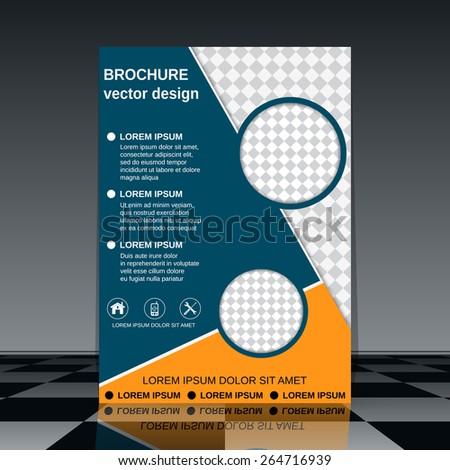 Brochure cover template. Flyer, poster, booklet vector design. - stock vector