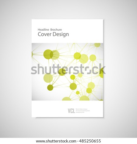 Brochure cover template for connect, network, healthcare, science and technology.