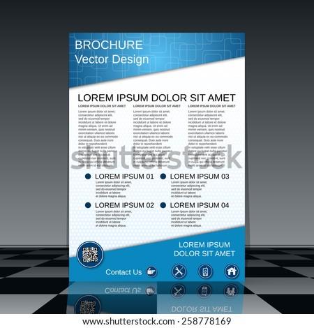 Brochure cover vector design. Abstract flyer template. - stock vector