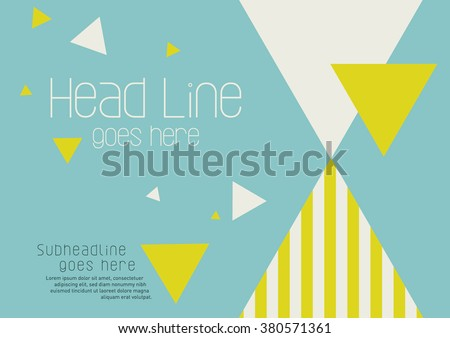 Brochure cover with background design/ Vector poster design/ Abstract background pattern/ Graphic design/ Book cover template/ Book design layout with geometrical pattern - stock vector