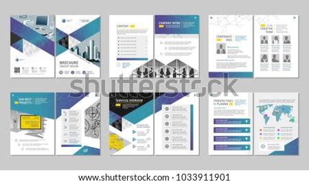 brochure creative design multipurpose template coverのベクター画像