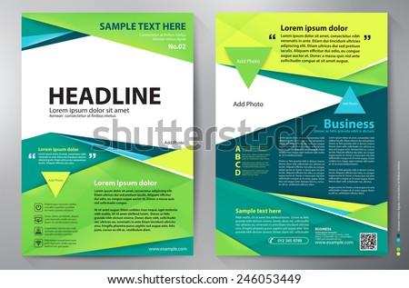Brochure design a4 template. Vector illustration - stock vector
